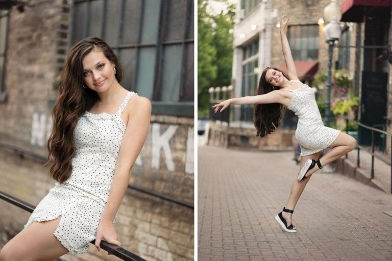 senior girl urban dance