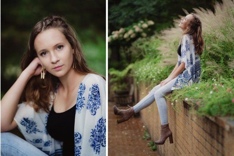 senior girl nature